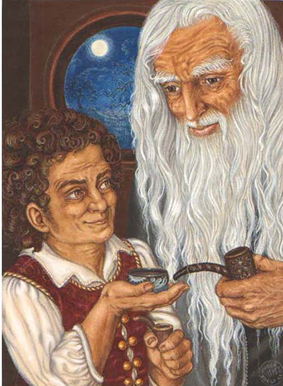 inger-edelfeldt-bilbo-and-gandalf_a